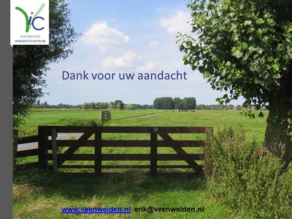 Dank voor uw aandacht www.veenweiden.nlwww.veenweiden.nl erik@veenweiden.nl