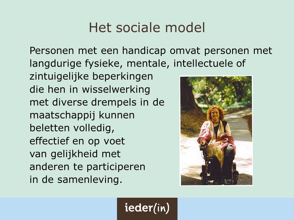Grondbeginselen van het VN-verdrag Volledige en daadwerkelijke participatie in en opname in de samenleving Zelfstandigheid Keuzevrijheid Non-discriminatie Toegankelijkheid en mobiliteit