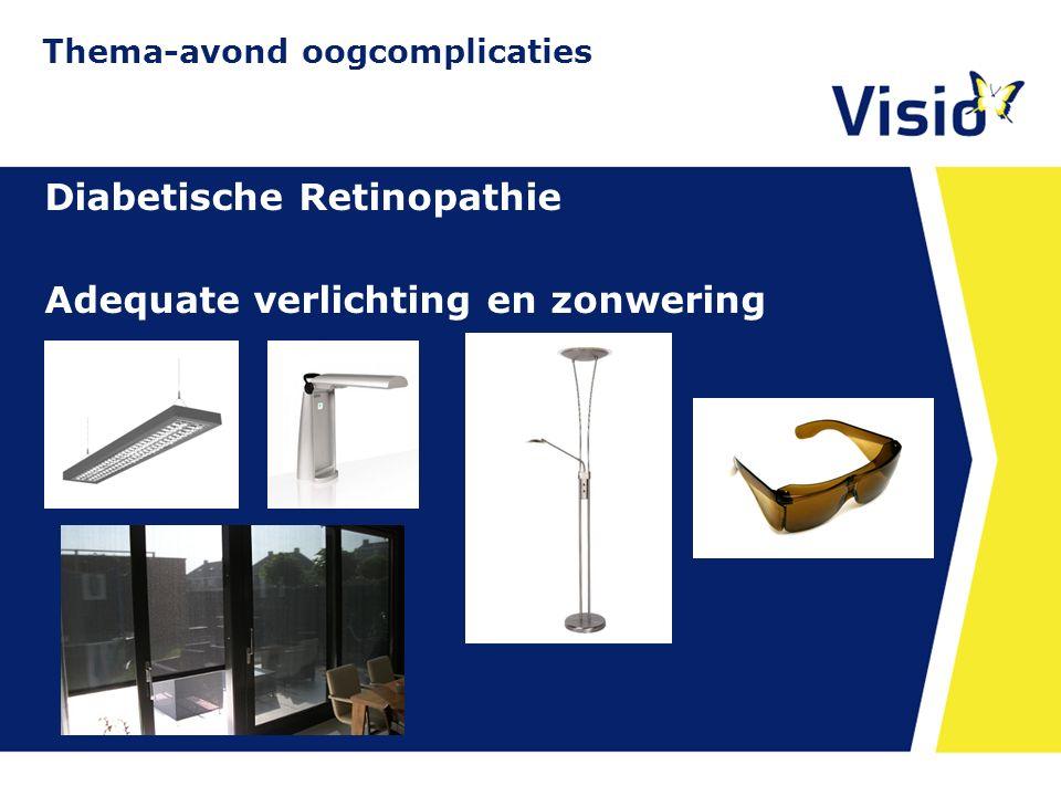 11 december 2015 Diabetische Retinopathie Adequate verlichting en zonwering Thema-avond oogcomplicaties