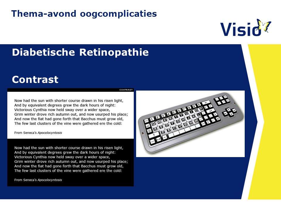 11 december 2015 Diabetische Retinopathie Contrast Thema-avond oogcomplicaties