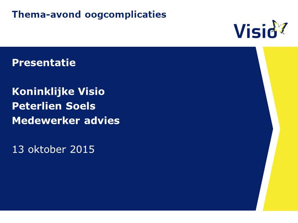 11 december 2015 Diabetische Retinopathie Systematiek in kijken  Kijktraining Thema-avond oogcomplicaties
