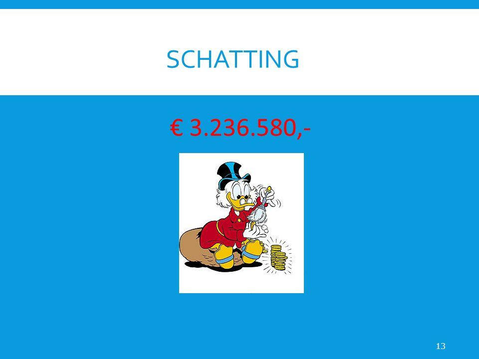 SCHATTING 13 € 3.236.580,-