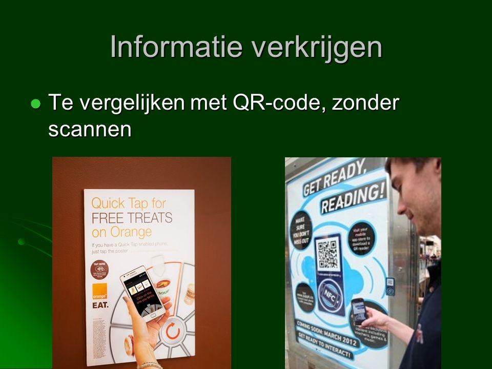 Te vergelijken met QR-code, zonder scannen Te vergelijken met QR-code, zonder scannen