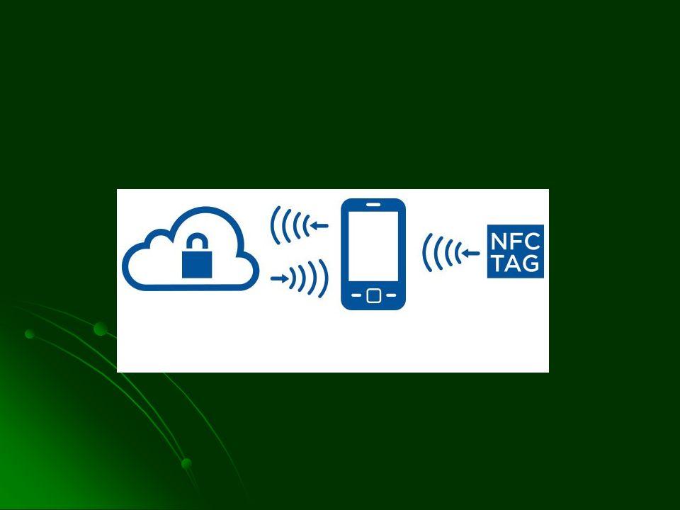NFC-tags Geschiedenis: radar technologie 1970 Geschiedenis: radar technologie 1970 Werd (wordt) gebruikt in bibliotheken, in toegangskaarten, winkels… Werd (wordt) gebruikt in bibliotheken, in toegangskaarten, winkels…