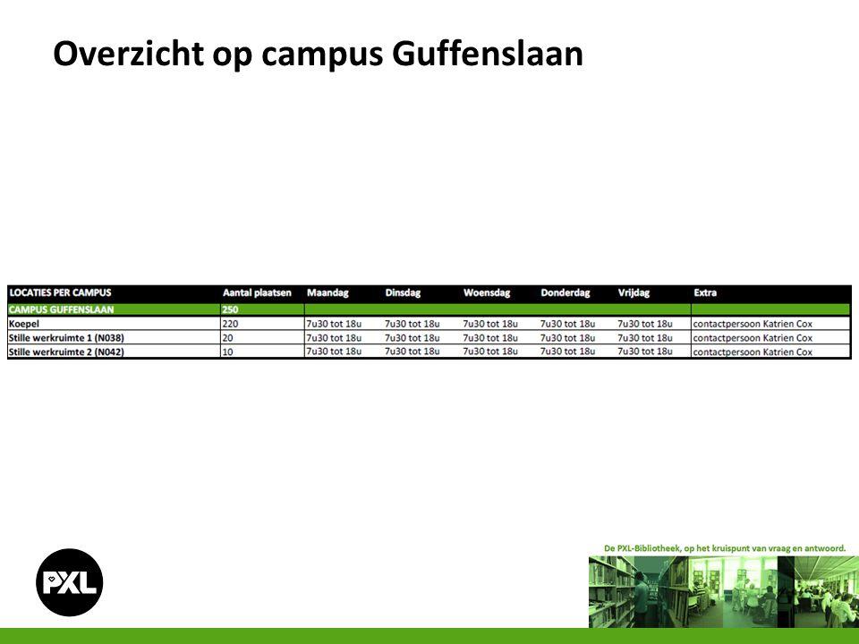 Overzicht op campus Guffenslaan