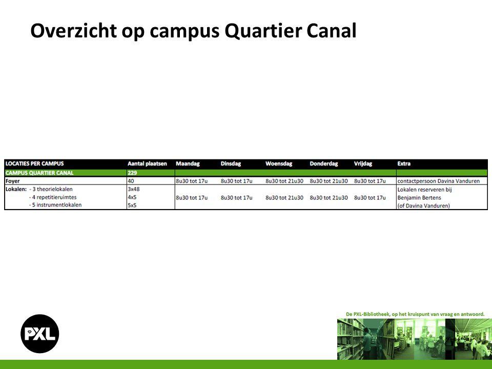 Overzicht op campus Quartier Canal