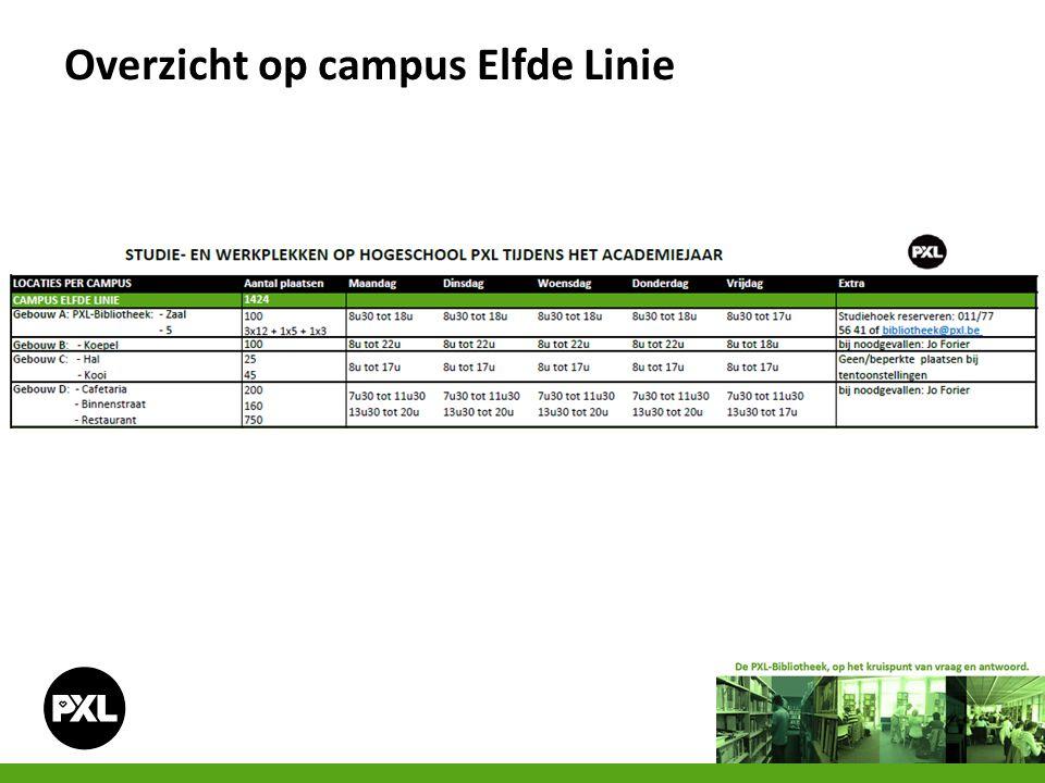 Overzicht op campus Elfde Linie