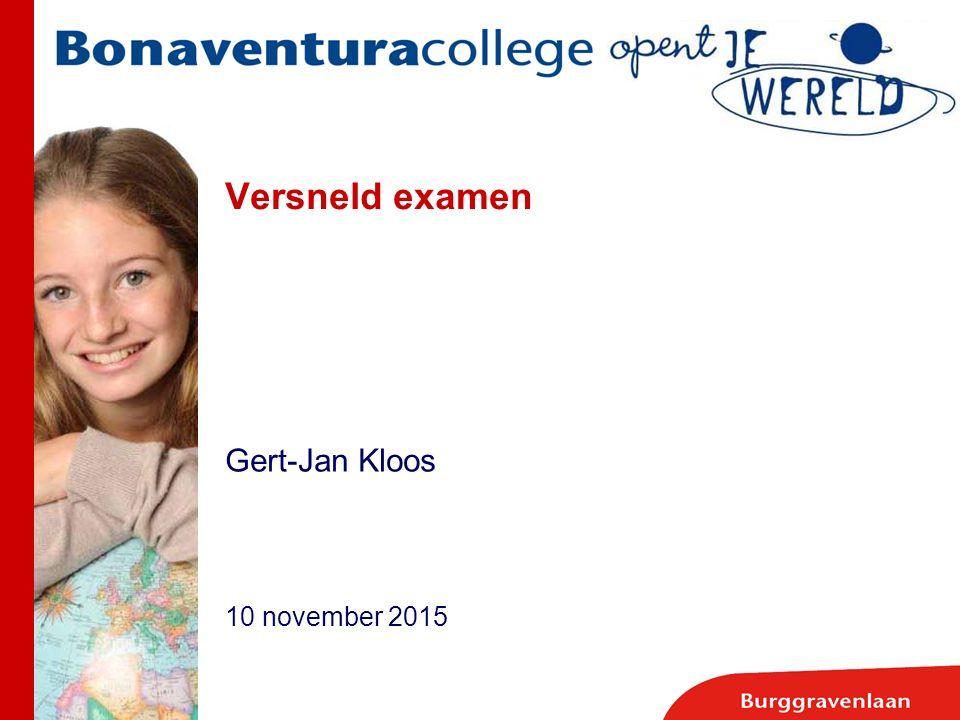 Versneld examen Gert-Jan Kloos 10 november 2015