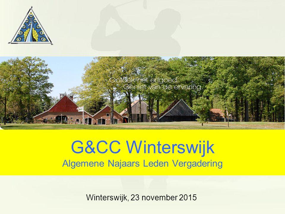 G&CC Winterswijk Algemene Najaars Leden Vergadering Winterswijk, 23 november 2015