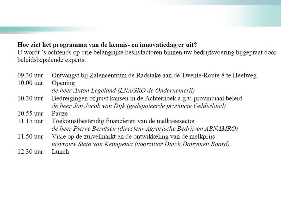 13 november 2015 Pierre Berntsen Toekomstbestendige melkveesector Kennis- en innovatiedag Melkveehouderij Oost-Nederland