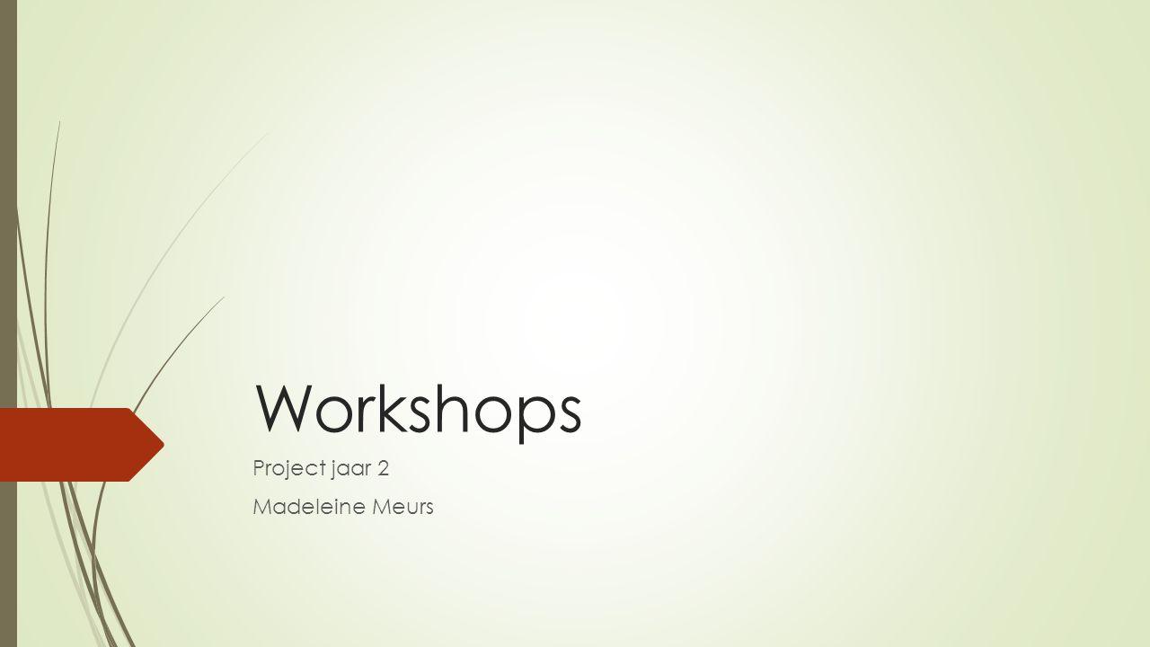 Workshops Project jaar 2 Madeleine Meurs