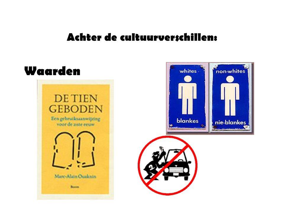 Achter de cultuurverschillen: Waarden
