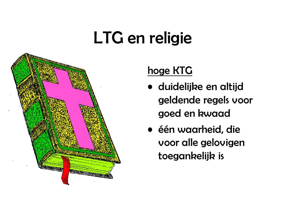LTG en religie hoge KTG duidelijke en altijd geldende regels voor goed en kwaad één waarheid, die voor alle gelovigen toegankelijk is