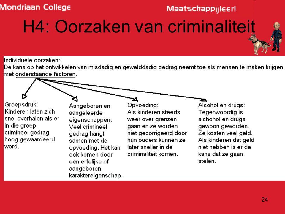 24 H4: Oorzaken van criminaliteit