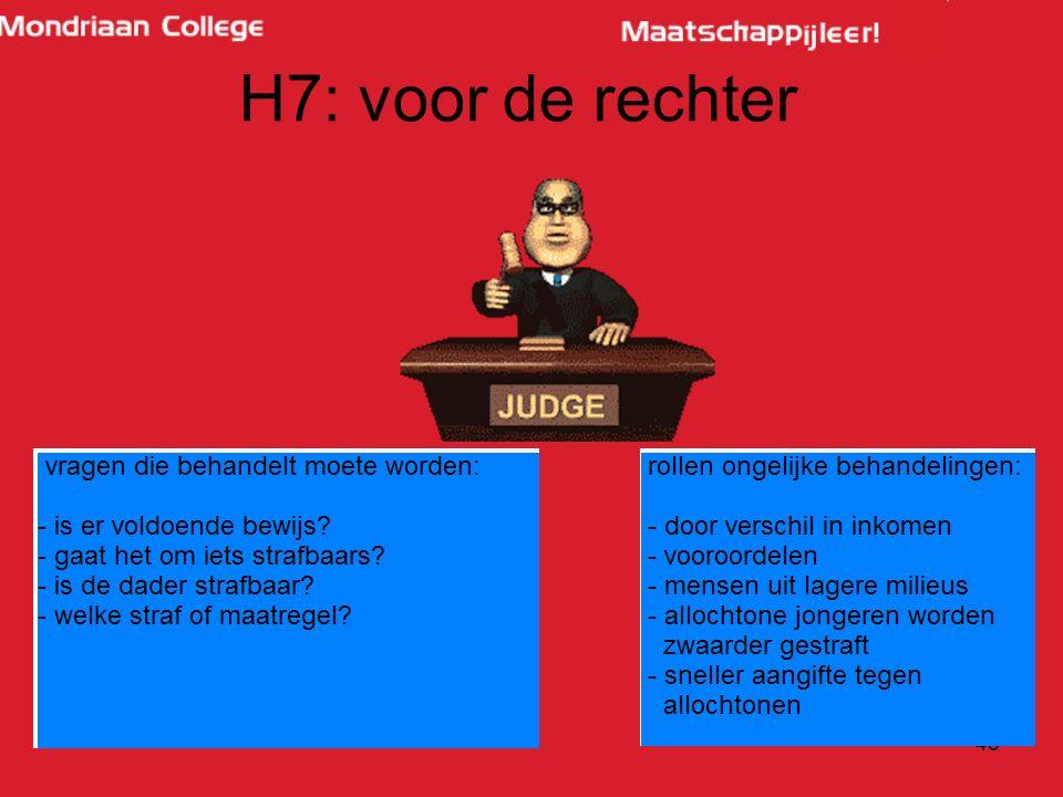 43 H7: voor de rechter