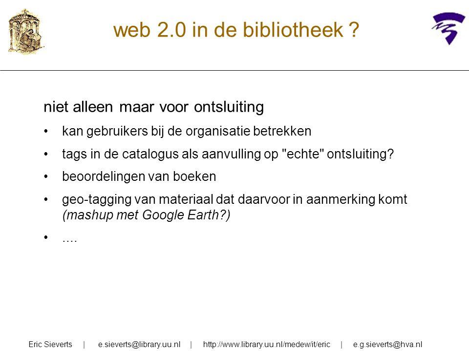 semantische kennis toevoegen in semantisch netwerk worden verbanden gelegd tussen inhoudelijk verwante woorden (in één of meer talen) door omgeving van woord in het netwerk kan betekenis worden onderscheiden (in document en in query) omgeving van woord in het netwerk kan termen leveren om query te expanderen (woorden binnen bepaalde semantische afstand van zoekwoord) Eric Sieverts   e.sieverts@library.uu.nl   http://www.library.uu.nl/medew/it/eric   e.g.sieverts@hva.nl bijvoorbeeld: irion-21