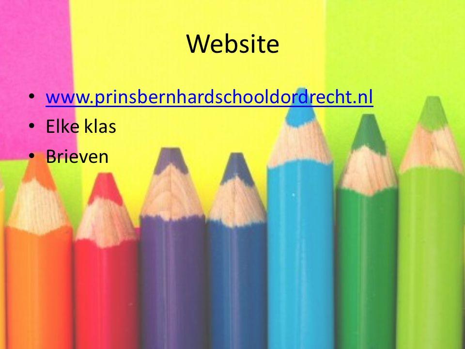 Website www.prinsbernhardschooldordrecht.nl Elke klas Brieven