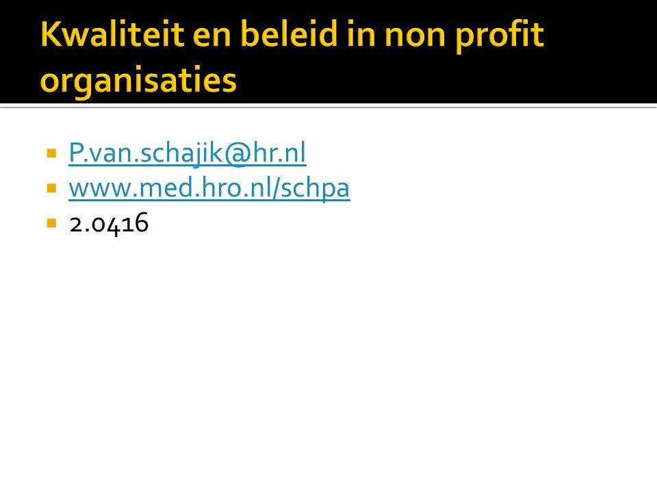  P.van.schajik@hr.nl P.van.schajik@hr.nl  www.med.hro.nl/schpa www.med.hro.nl/schpa  2.0416