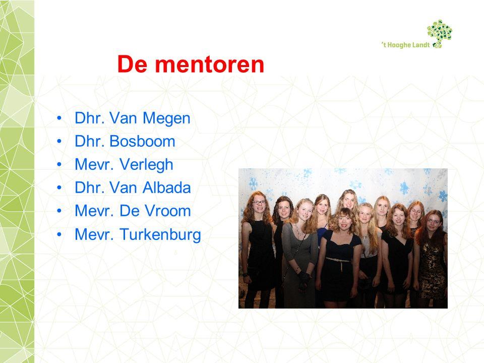 De mentoren Dhr. Van Megen Dhr. Bosboom Mevr. Verlegh Dhr.