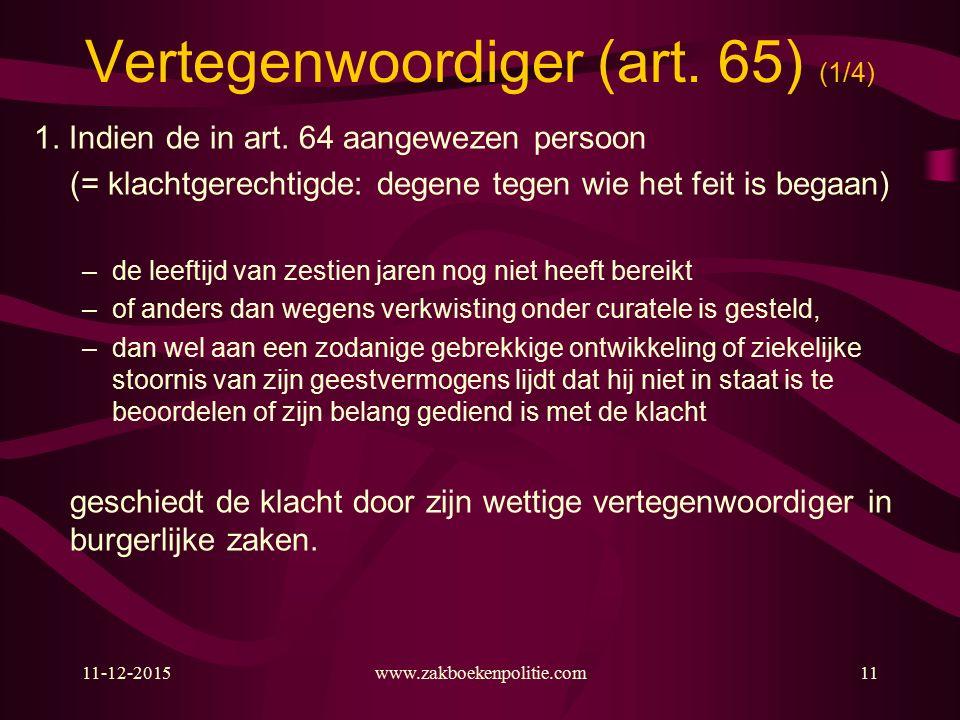 11-12-2015www.zakboekenpolitie.com11 Vertegenwoordiger (art.