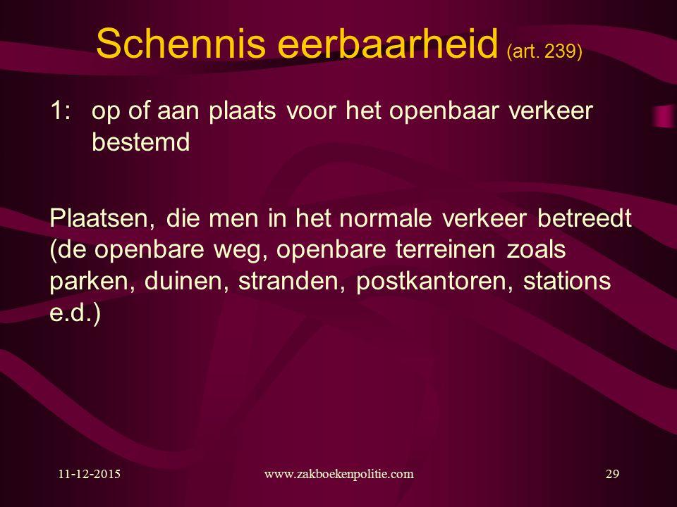 11-12-2015www.zakboekenpolitie.com29 Schennis eerbaarheid (art.