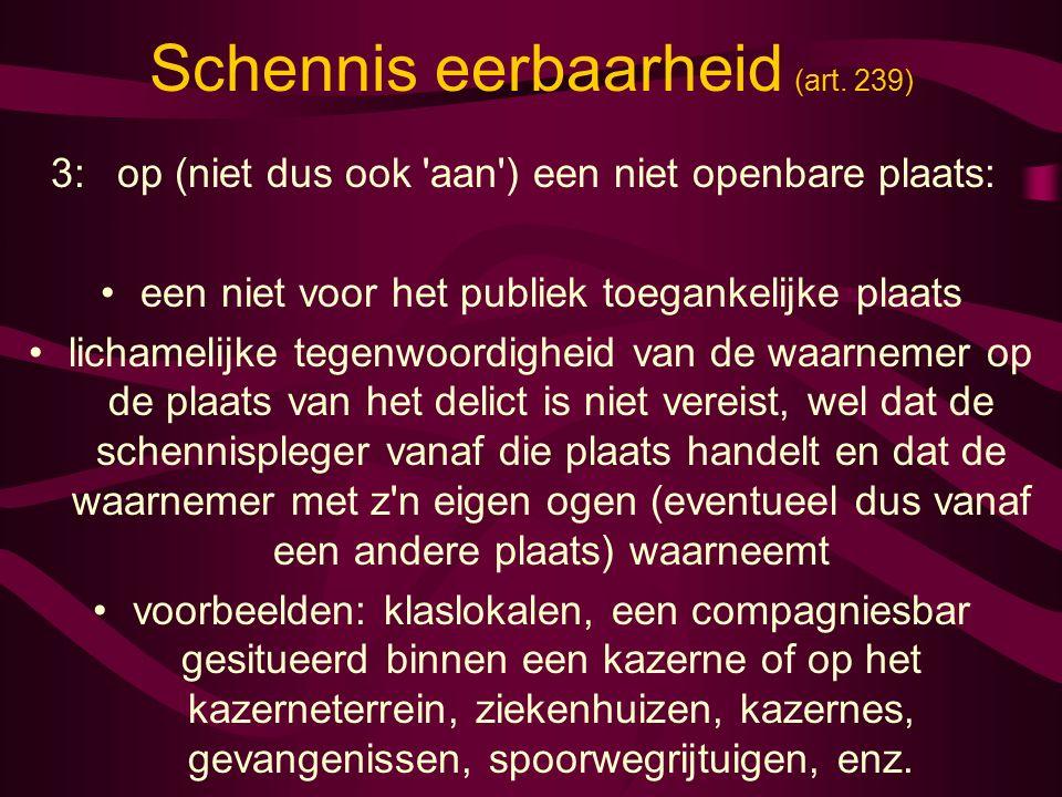 Schennis eerbaarheid (art.