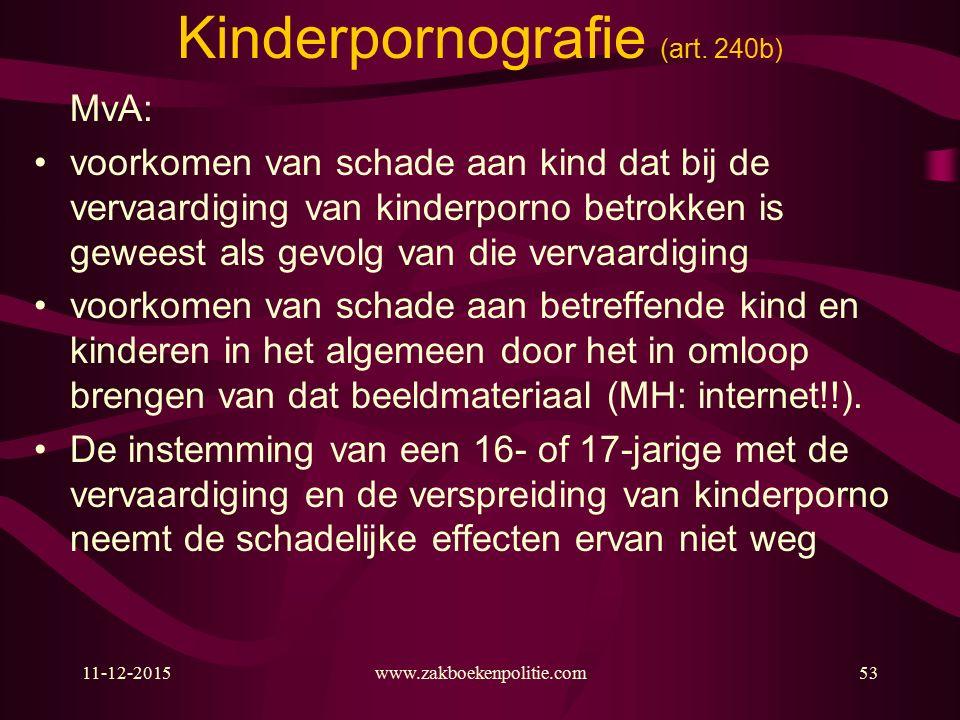 11-12-2015www.zakboekenpolitie.com53 Kinderpornografie (art.
