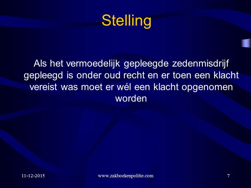 11-12-2015www.zakboekenpolitie.com218 Stelling Bij veroordeling wegens bijv.