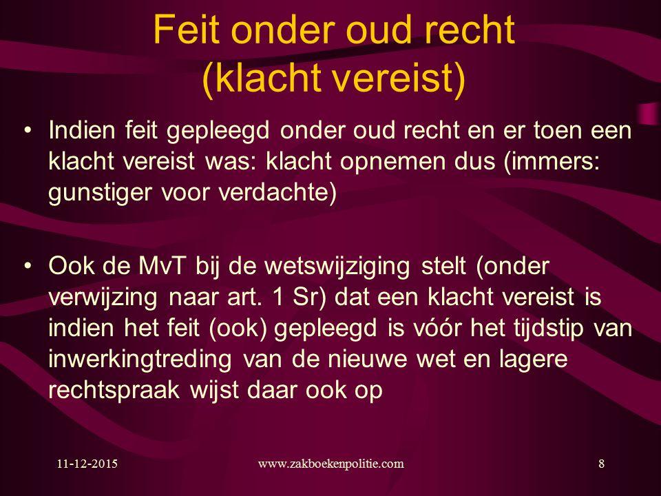 11-12-2015www.zakboekenpolitie.com179 Stelling Instemming/toestemming van het slachtoffer heft de strafbaarheid ingevolge art.
