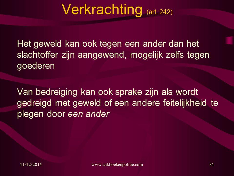 11-12-2015www.zakboekenpolitie.com81 Verkrachting (art.