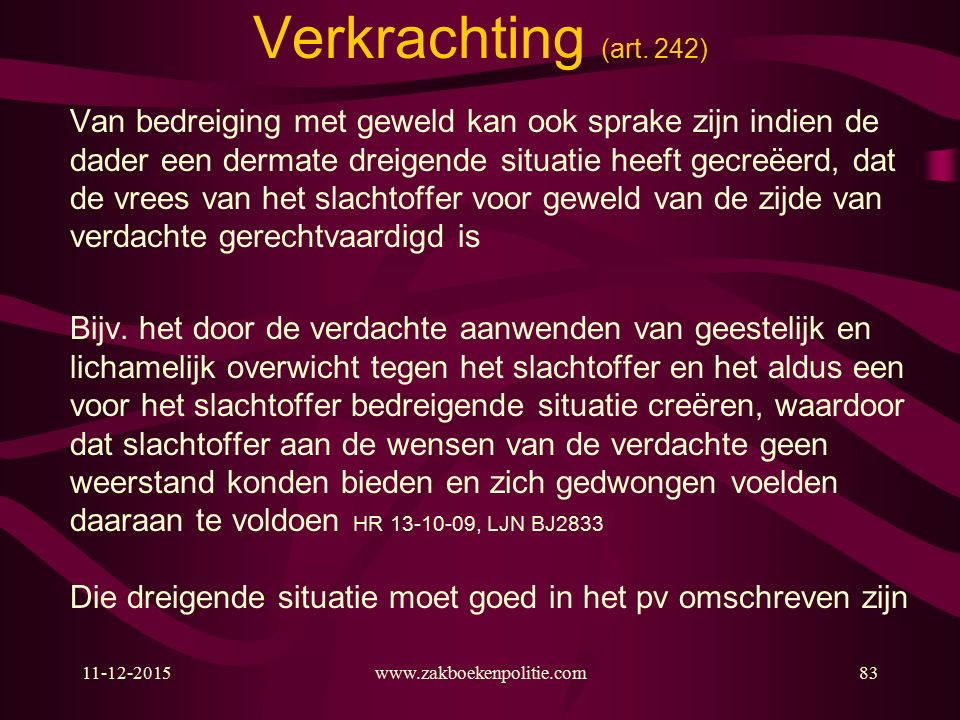 11-12-2015www.zakboekenpolitie.com83 Verkrachting (art.