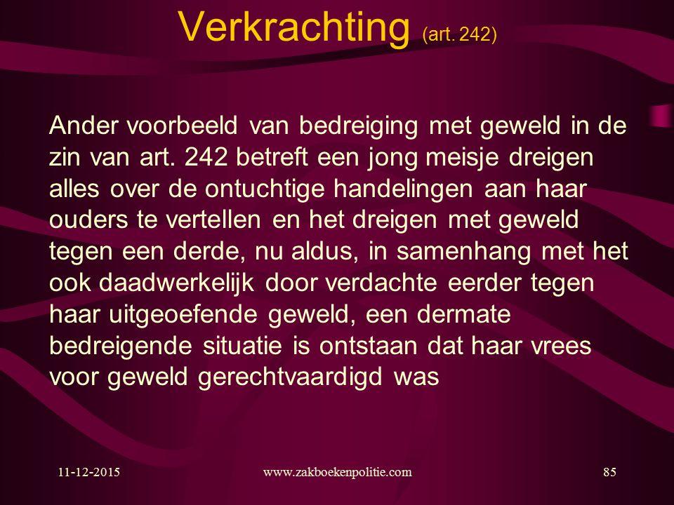 11-12-2015www.zakboekenpolitie.com85 Verkrachting (art.