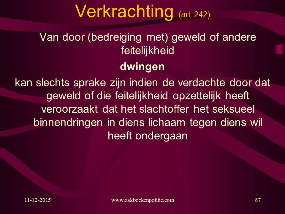 11-12-2015www.zakboekenpolitie.com87 Verkrachting (art.