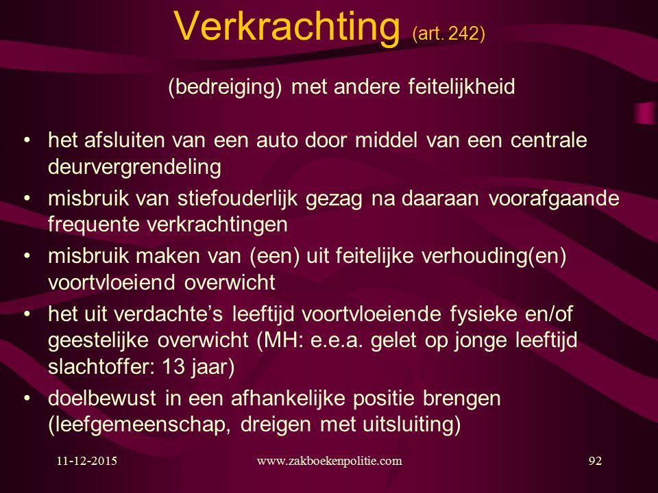 11-12-2015www.zakboekenpolitie.com92 Verkrachting (art.