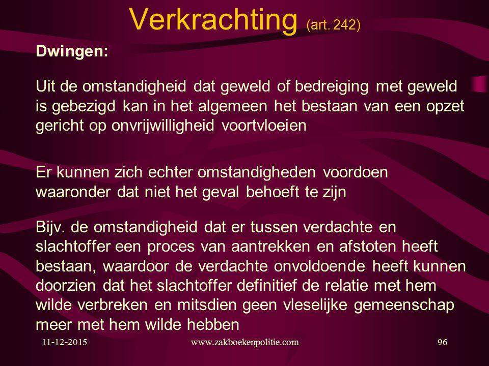 11-12-2015www.zakboekenpolitie.com96 Verkrachting (art.