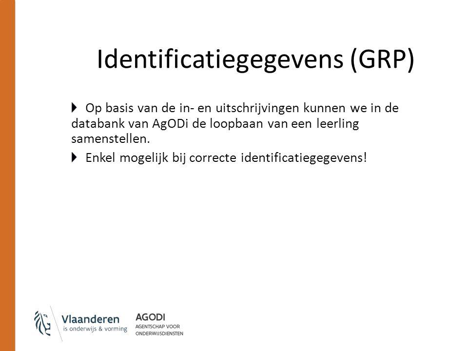 Op basis van de in- en uitschrijvingen kunnen we in de databank van AgODi de loopbaan van een leerling samenstellen. Enkel mogelijk bij correcte ident