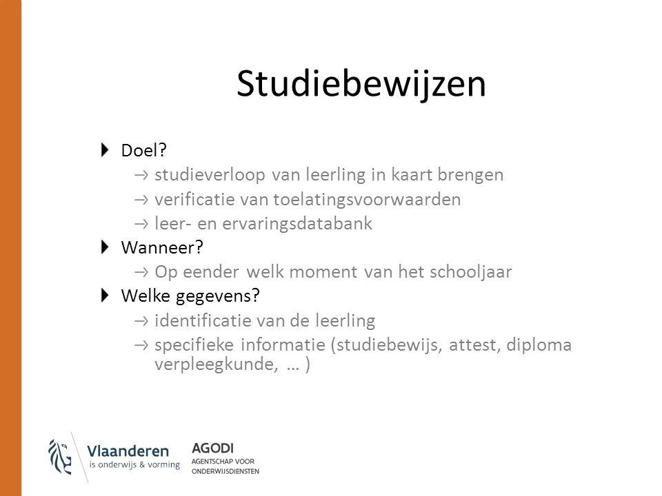 Studiebewijzen Doel.
