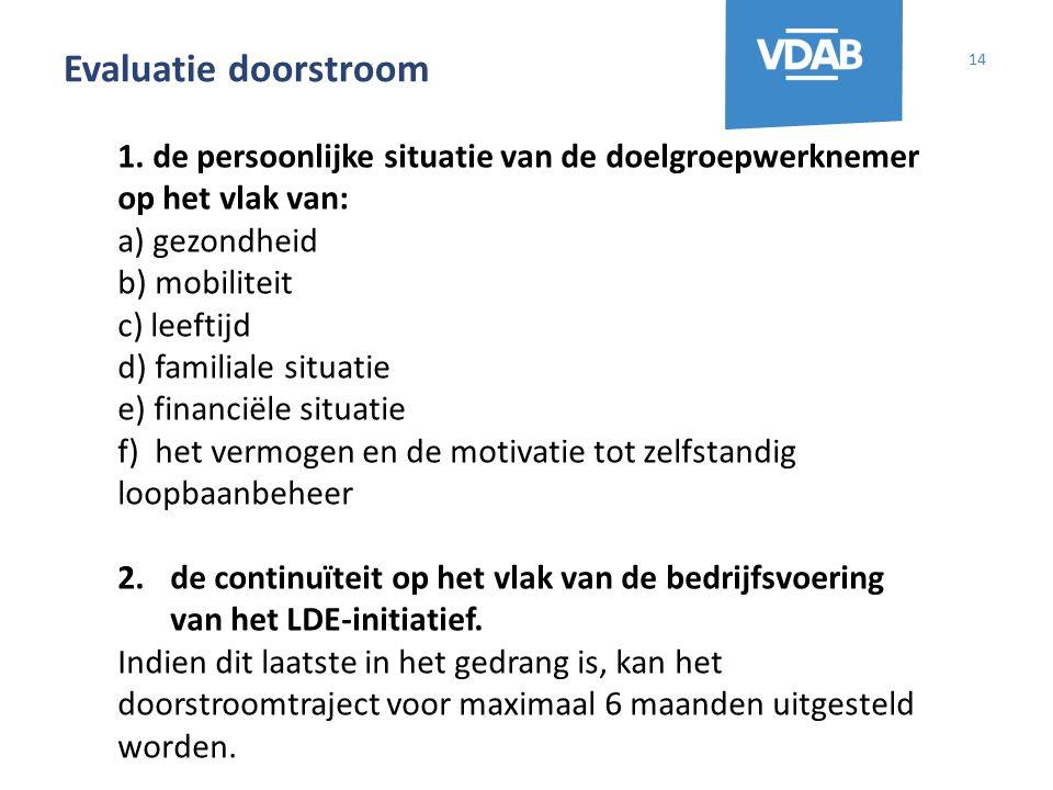 Evaluatie doorstroom 14 1.