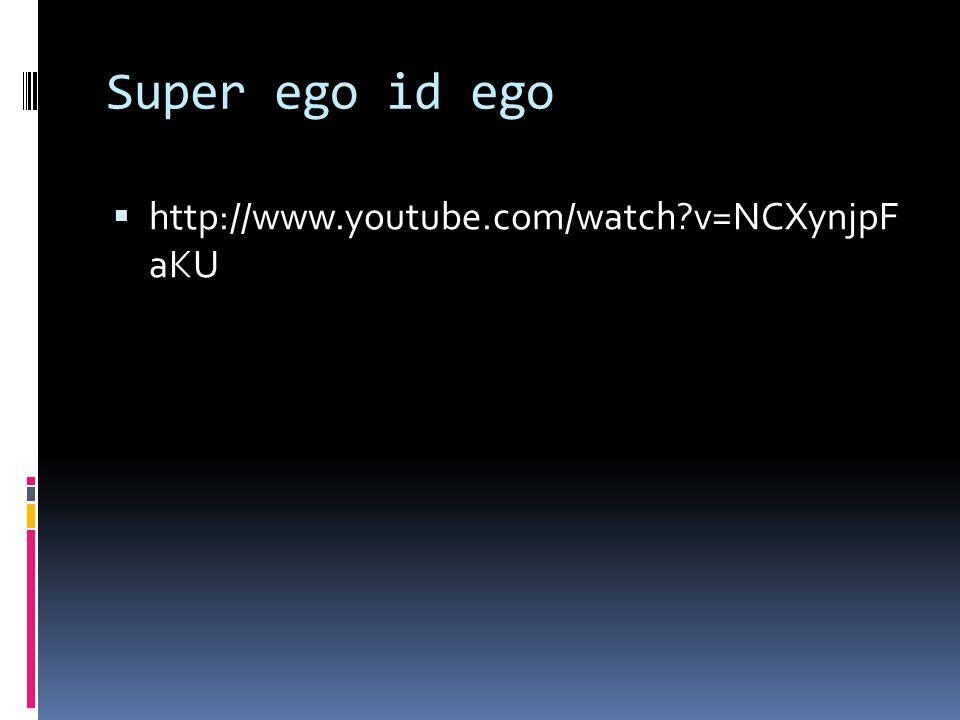Super ego id ego  http://www.youtube.com/watch?v=NCXynjpF aKU