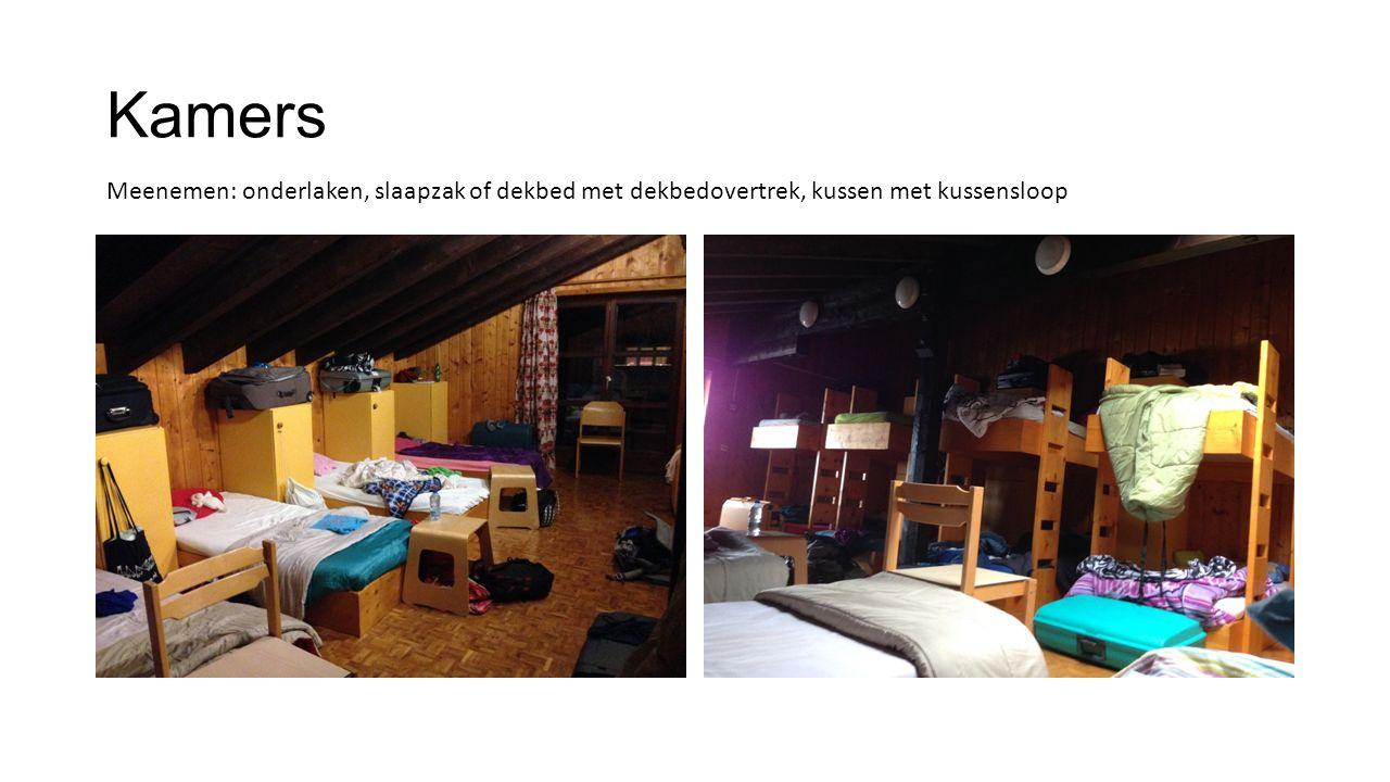 Badkamers Meisjes/jongens apart Toiletzak + ondergoed in kast Elke dag propere handdoek Knijpkapstokken (3) Linnenzak in de koffer (sorteren vuil/proper!)