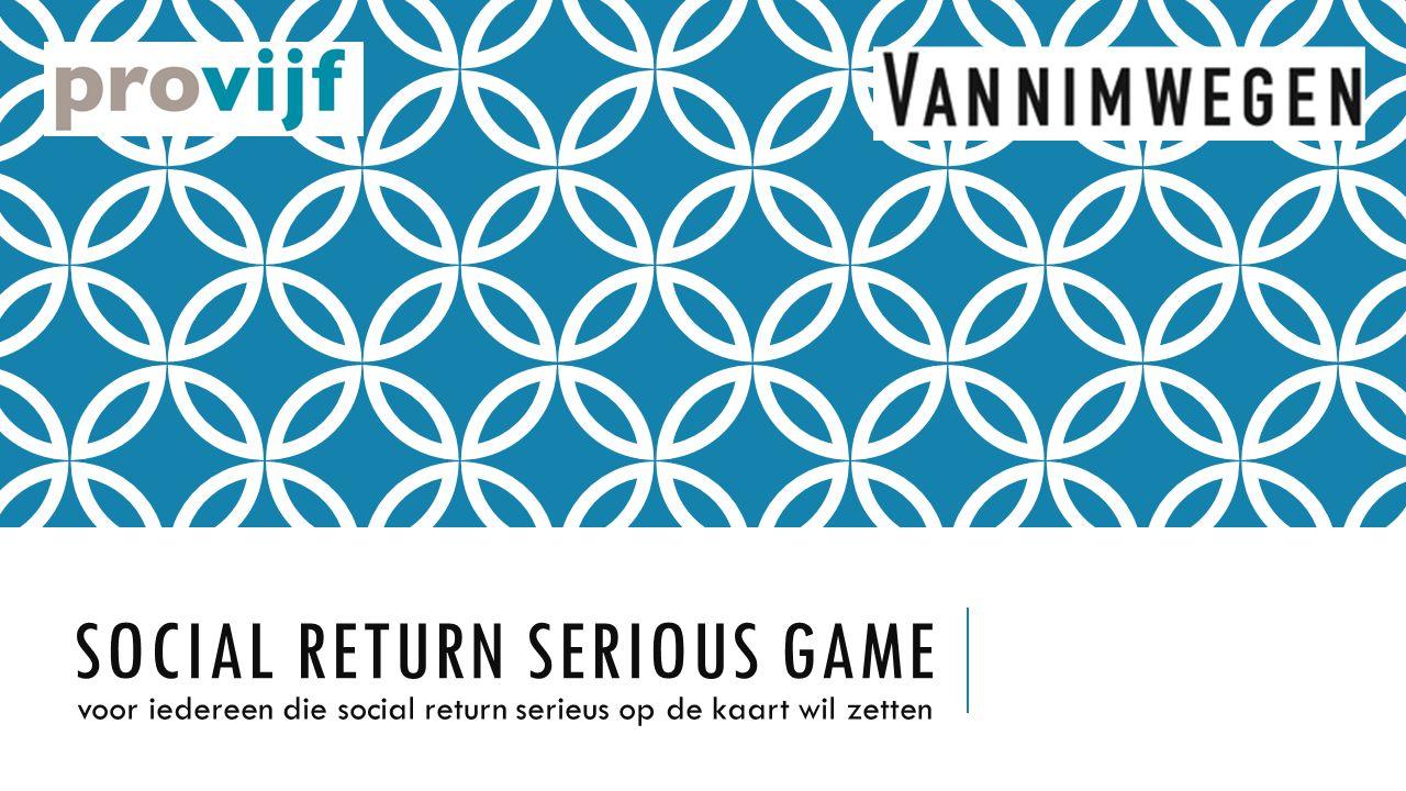 SOCIAL RETURN SERIOUS GAME voor iedereen die social return serieus op de kaart wil zetten