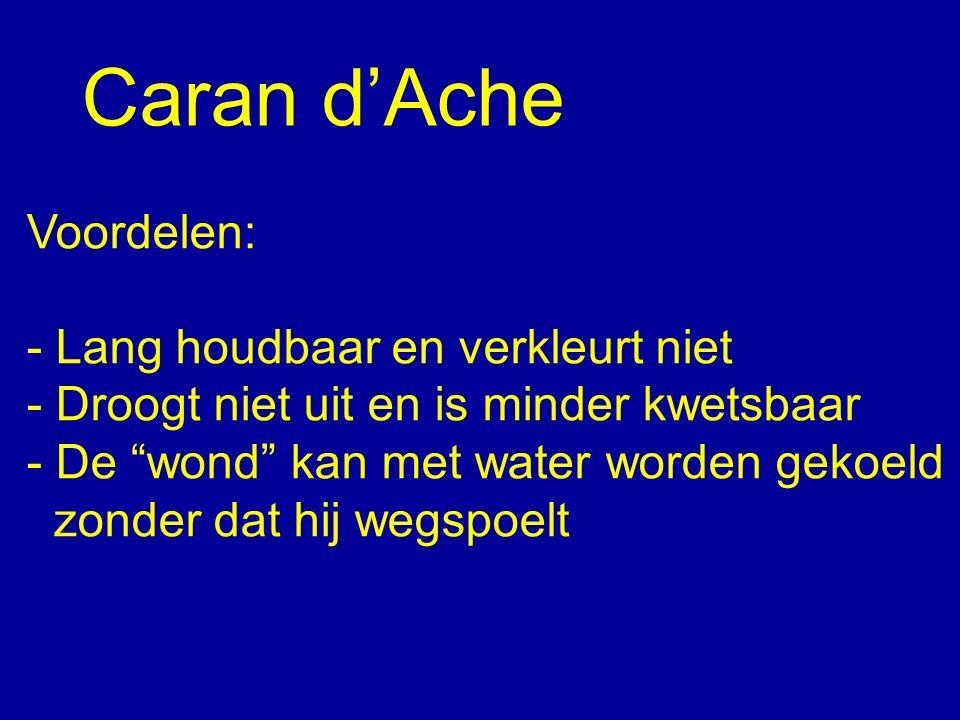 """Caran d'Ache Voordelen: - Lang houdbaar en verkleurt niet - Droogt niet uit en is minder kwetsbaar - De """"wond"""" kan met water worden gekoeld zonder dat"""