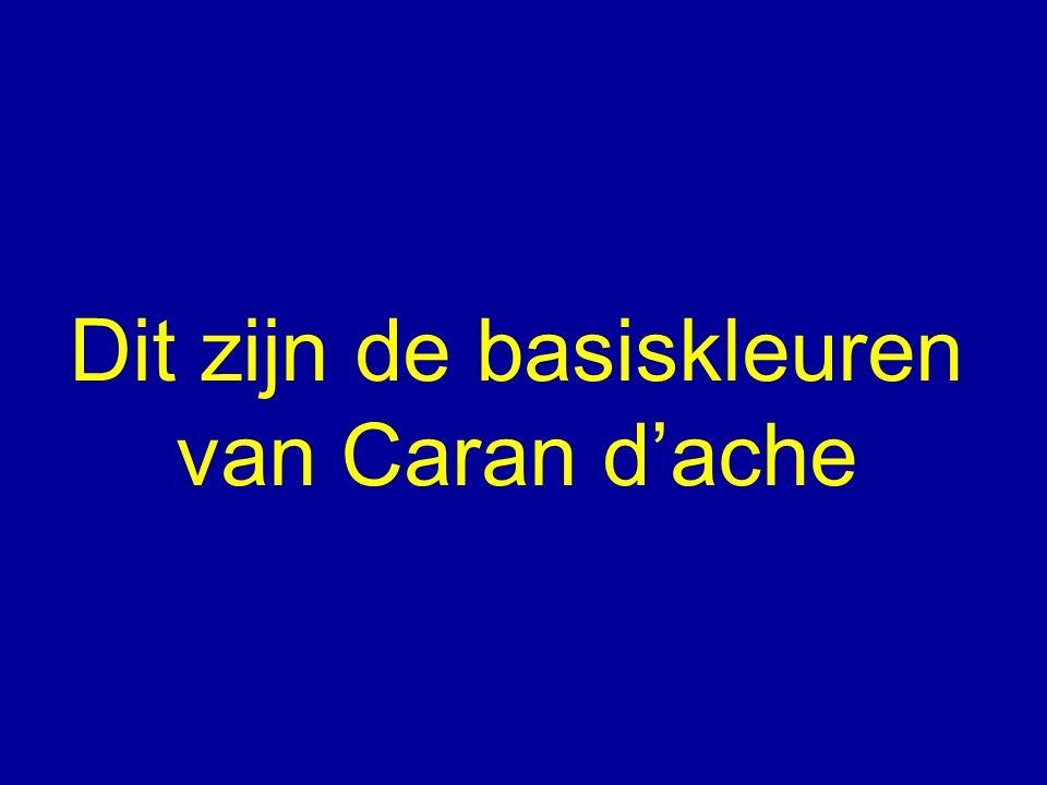 Dit zijn de basiskleuren van Caran d'ache