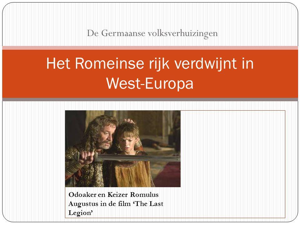 = de centrale probleemstelling van dit hoofdstuk Wat veroorzaakte het verdwijnen van het Romeinse Rijk in West-Europa?