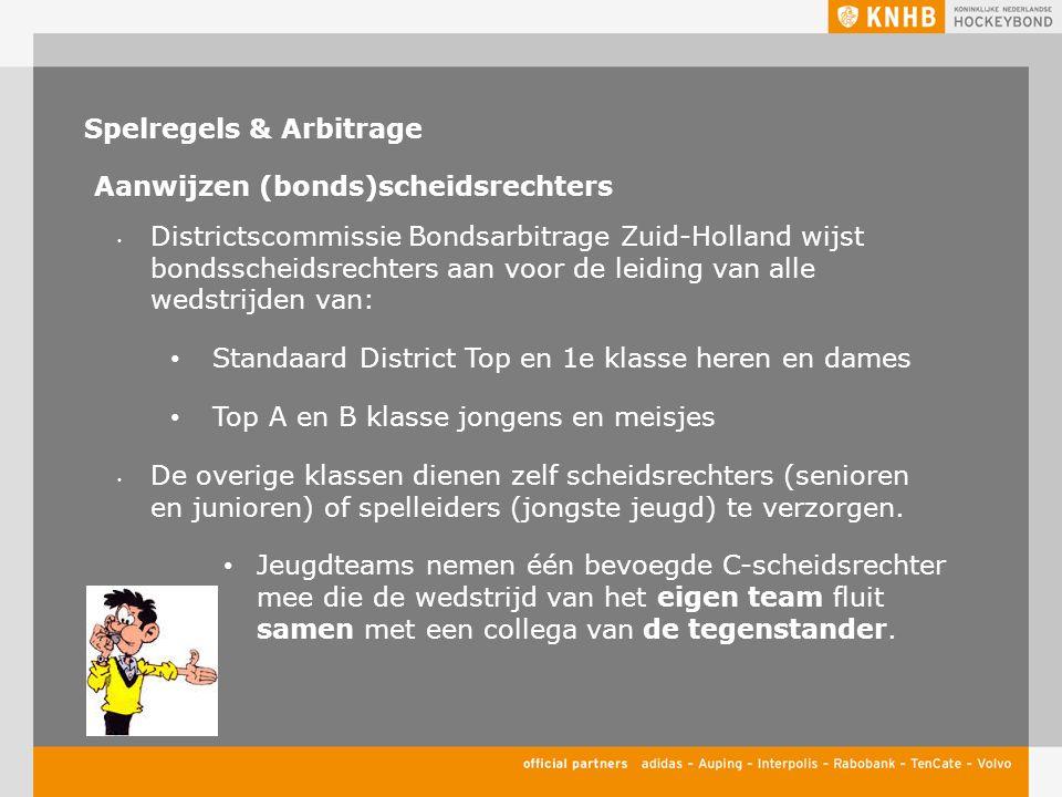 Spelregels & Arbitrage Aanwijzen (bonds)scheidsrechters Districtscommissie Bondsarbitrage Zuid-Holland wijst bondsscheidsrechters aan voor de leiding