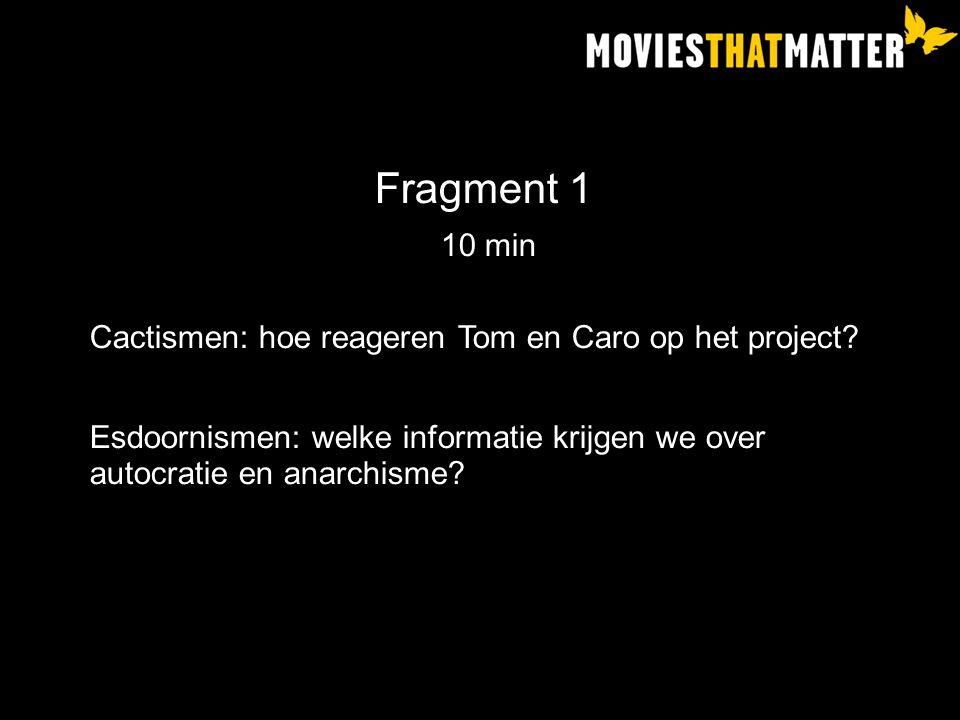 Fragment 1 10 min Cactismen: hoe reageren Tom en Caro op het project.