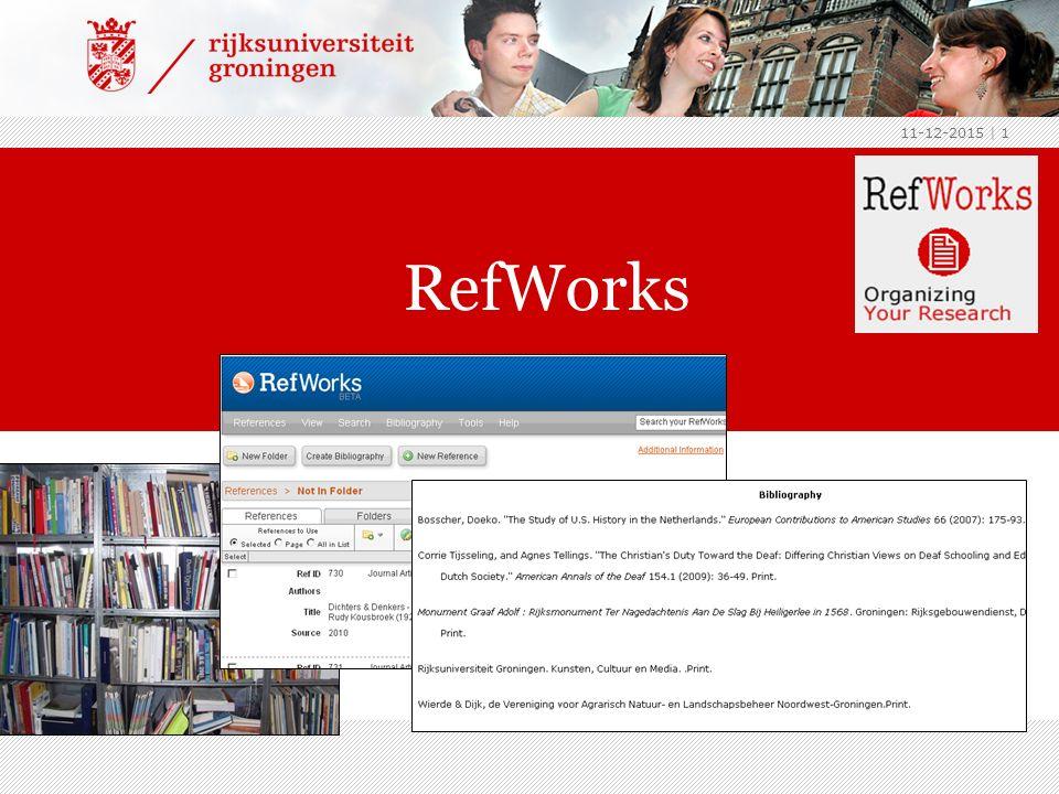 11-12-2015 | 1 RefWorks