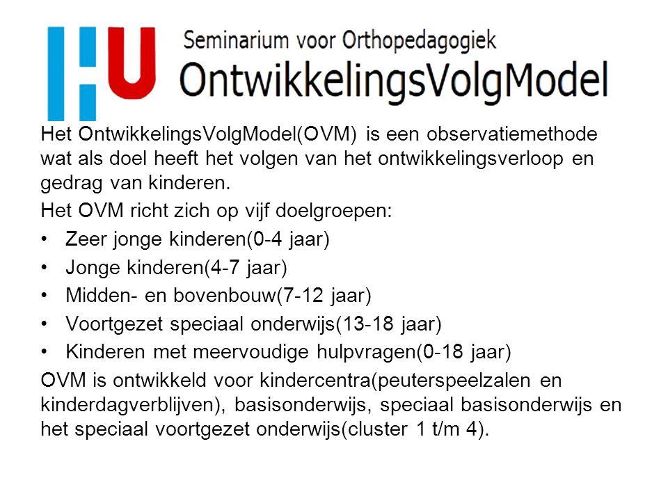In OVM zijn allerlei aspecten (domeinen) van de kinderlijke ontwikkeling in de vorm van ontwikkelingslijnen uitgewerkt.