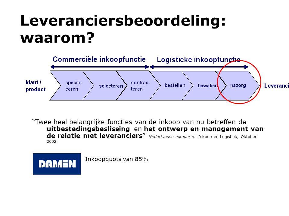 """Leveranciersbeoordeling: waarom? """"Twee heel belangrijke functies van de inkoop van nu betreffen de uitbestedingsbeslissing en het ontwerp en managemen"""