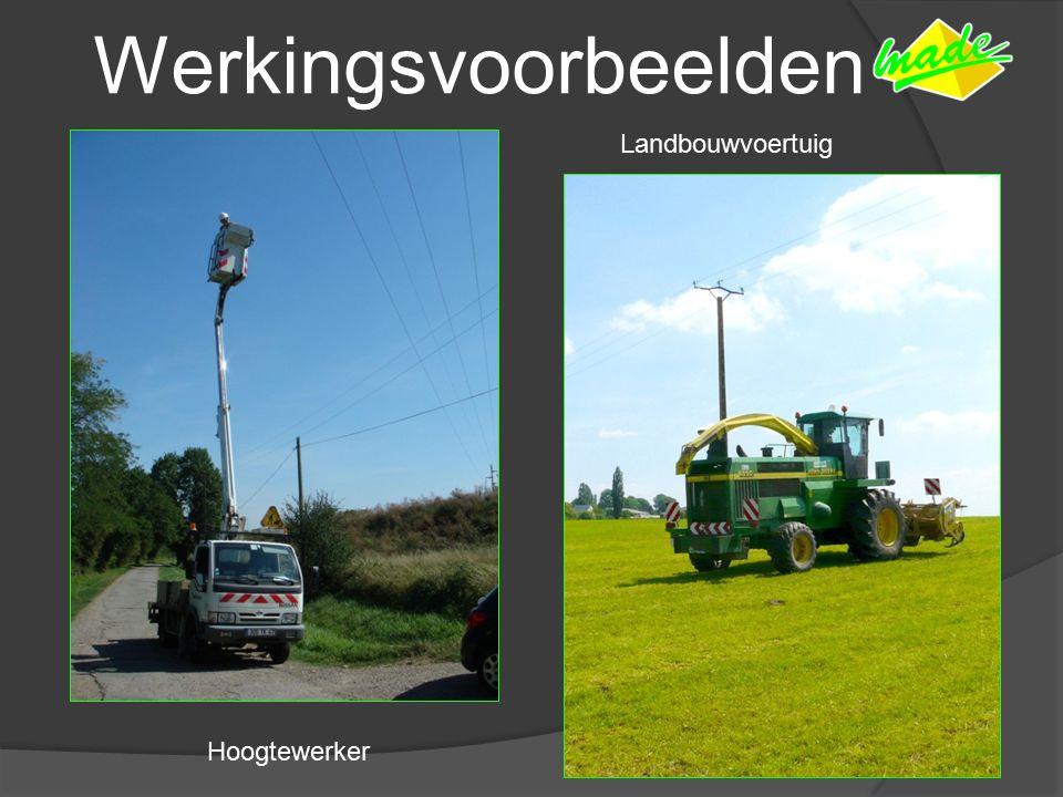 Werkingsvoorbeelden Landbouwvoertuig Hoogtewerker